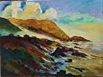 "Big Sur Mist by Cyndra Bradford Paintings Oil ~ 36"" x 48"""