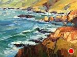 """Sunset Seas"" by Cyndra Bradford Paintings Oil ~ 36"" x 48"""
