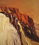 "Red Mountain by Howard  Bradford Oil ~ 52"" x 46"""