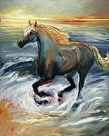 "Roan Stallion by Cyndra Bradford Giclee Prints Giclee Print ~ 14"" x 11"""