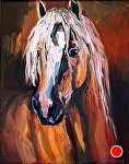 "Proud Pony by Cyndra Bradford Paintings Oil ~ 20"" x 16"""