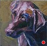 "Looking for the Ball by Cyndra Bradford Paintings Oil ~ 12"" x 12"""