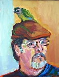 "Jeff & Zipper by Cyndra Bradford Paintings Acrylic ~ 18"" x 14"""