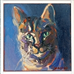 "Alley Cat by Cyndra Bradford Paintings  ~ 8"" x 8"""