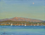 "Moon Across the Bay by Jeff Daniel Smith Oil ~ 8"" x 10"""