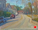 "Red Truck by Jeff Daniel Smith Oil ~ 8"" x 10"""