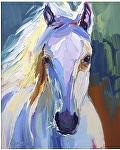 "White Horse by Cyndra Bradford Giclee Prints Giclee Print ~ 14"" x 11"""