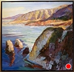 "SUN LITE ROCKS by Cyndra Bradford Paintings Oil ~ 40"" x 40"""