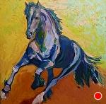 "Running Free by Cyndra Bradford Paintings Oil ~ 48"" x 48"""