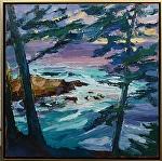 "Carmel Highlands"" by Cyndra Bradford Paintings Oil ~ 40"" x 40"""