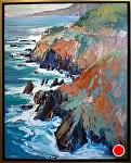 """South Coast Rocks"" by Cyndra Bradford Paintings Oil ~ 40"" x 30"""