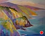 "CB Big Sur Color by Cyndra Bradford Paintings Oil ~ 48"" x 60"""