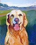 Happy Dog by Cyndra Bradford Paintings Oil ~  x