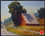 "Red Barn River Rd by Jeff Daniel Smith Oil ~ 11"" x 14"""