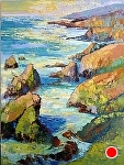 """Big Sur Shimmer"" by Cyndra Bradford Paintings Oil ~ 72"" x 48"""