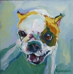 "lets go ! by Cyndra Bradford Paintings  ~ 12"" x 12"""