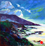 "Evening Coast by Cyndra Bradford Paintings Oil ~ 36"" x 36"""