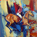 "Polo by Cyndra Bradford Paintings Oil ~ 30"" x 30"""