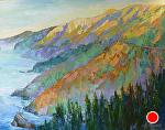 "Big Sur Bright Morning by Cyndra Bradford Paintings Oil ~ 48"" x 60"""