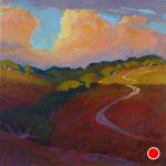"""TRAIL TO THE SKY by Jeff Daniel Smith Oil ~ 40"""" x 40"""""""
