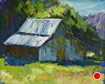 Old Barn by Cyndra Bradford Paintings Oil ~ 16 x 20