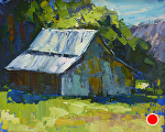 Old Barn by Cyndra Bradford Paintings Oil ~ 16 x 20