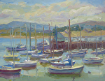 Monterey Boats by Jeff Daniel Smith Oil ~ 11 x 14