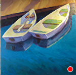 Reflection of Boats by Jeff Daniel Smith Oil ~ 40 x 40