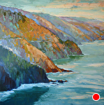 "In A Big Sur Mood 60x60 8000 by Cyndra Bradford Paintings Oil ~ 60"" x 60"""