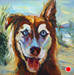 "LOLA by Cyndra Bradford Paintings Oil ~ 14"" x 14"""