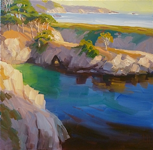 "China Cove by Jeff Daniel Smith Oil ~ 40"" x 40"""