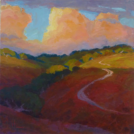 "TRAIL TO THE SKY by Jeff Daniel Smith Oil ~ 40"" x 40"""