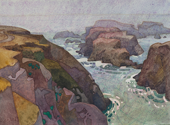 Mendocino Headlands - Watercolor