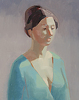 "Blue Robe by carolyn lord Oil ~ 10"" x 8"""