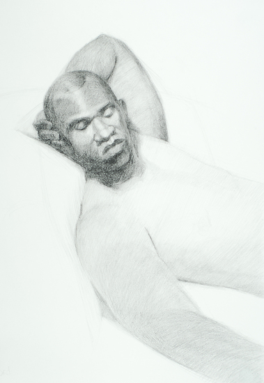 "Recumbent Pose by carolyn lord Charcoal ~ 24"" x 18"""