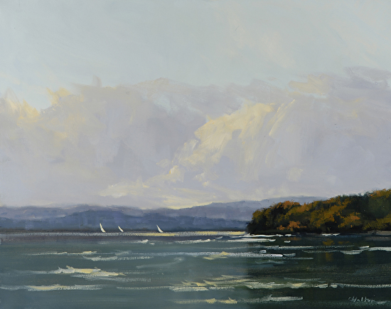 Follow the Wind (Lake Champlain) - Oil