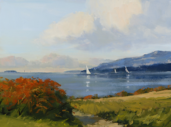 Sumac by Lake Champlain - Oil