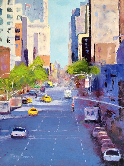High Line View NYC - Oil