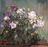 Peonies Etude by Diane Cruickshanks May Oil ~ 20 x 20