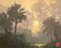 Everglades Morning Fog by Richard Oversmith Oil ~ 11 x 14
