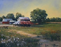 The Old Tabacco Barn by Paula B. Holtzclaw Oil ~ 11 x 14