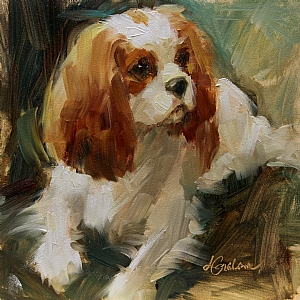 Blenheim Charm by Lindsey Bittner Graham Oil ~ 6 x 6