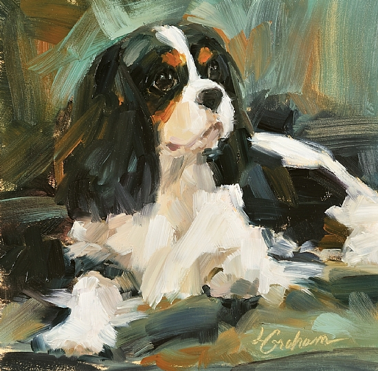 """So Comfy"" canvas giclee print by Lindsey Bittner Graham giclee on canvas ~ 4.25"" x 4.25"""