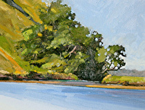 Jones Bay at Tawharanui Peninsula by Joe Garcia Oil ~ 6 x 8