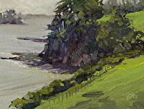 Scandrett Bay, New Zealand by Joe Garcia Oil ~ 6 x 8
