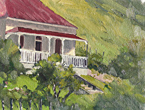 Scandrett Homestead, New Zealand by Joe Garcia Oil ~ 6 x 8