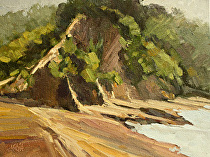 Scotts Landing by Joe Garcia Oil ~ 6 x 8