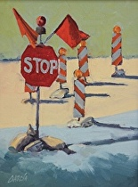 Stop! by Joe Garcia Oil ~ 8 x 6
