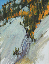 View Above Ten Mile Creek, Colorado--Plein Air by Joe Garcia Oil ~ 12 x 9