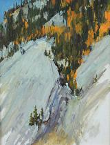 View Above Ten Mile Creek, Colorado--Plein Air by Joe Garcia Oil ~ 12 x 9